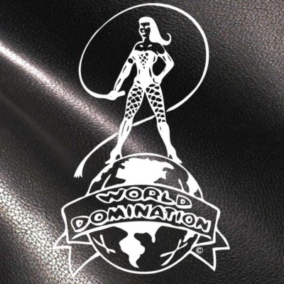 World Domination NYC Leather- Logo on Leather