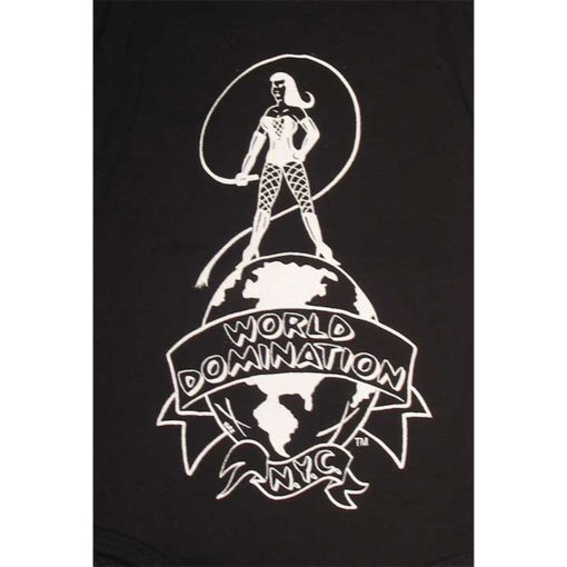 World Domination NYC Leather- Logo on black
