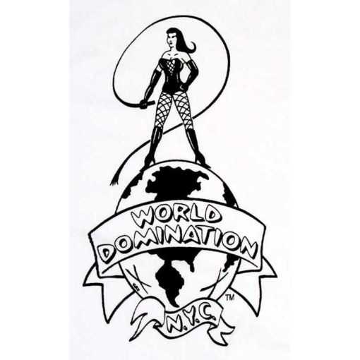 World Domination NYC Leather- Logo on white